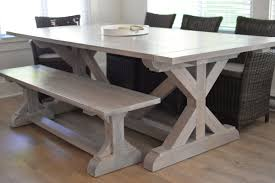 The Cottage Diaries Custom Built X Base Rustic Table