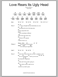 Love Rears Its Ugly Head by Living Colour Guitar Chords Lyrics