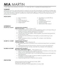Resume Examples Executive Assistant Free Sample Administrative
