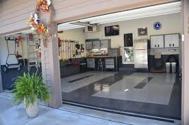 great looking garage with racedeck garage flooring by race deck