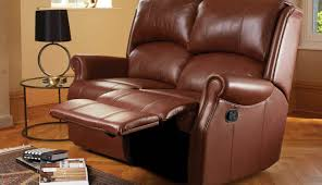 Darrin Leather Reclining Sofa With Console by 2 Seater Electric Recliner Leather Sofa Centerfieldbar Com