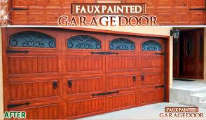 Faux Painted Garage Door Interior Illusions