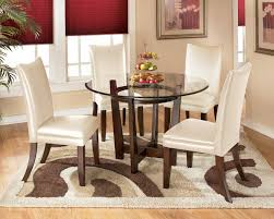 Charrell 5 Piece Round Dining Table Set With Ivory Chairs By Ashley  Signature Design At Rooms And Rest