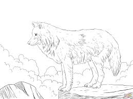 Stylish Wolf Coloring Page