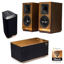 Klipsch THE SIXES Bookshelf Speakers THE THREE Audio System and