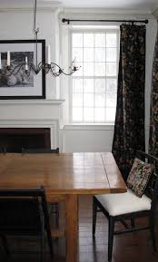 Farmhouse Table Black And White Dining Room Candle Chandelier Cow Picture