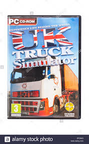 100 Uk Truck Simulator A PC CDROM UK SIMULATOR Computer Game On A White Background