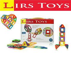 amazon com lirs toys 30 pcs magnetic blocks magnetic tiles