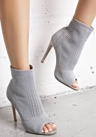 smoke myth sock boots sporty stilettos and peeps