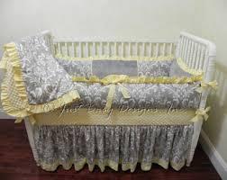 gray and yellow custom crib bedding set you design yellow