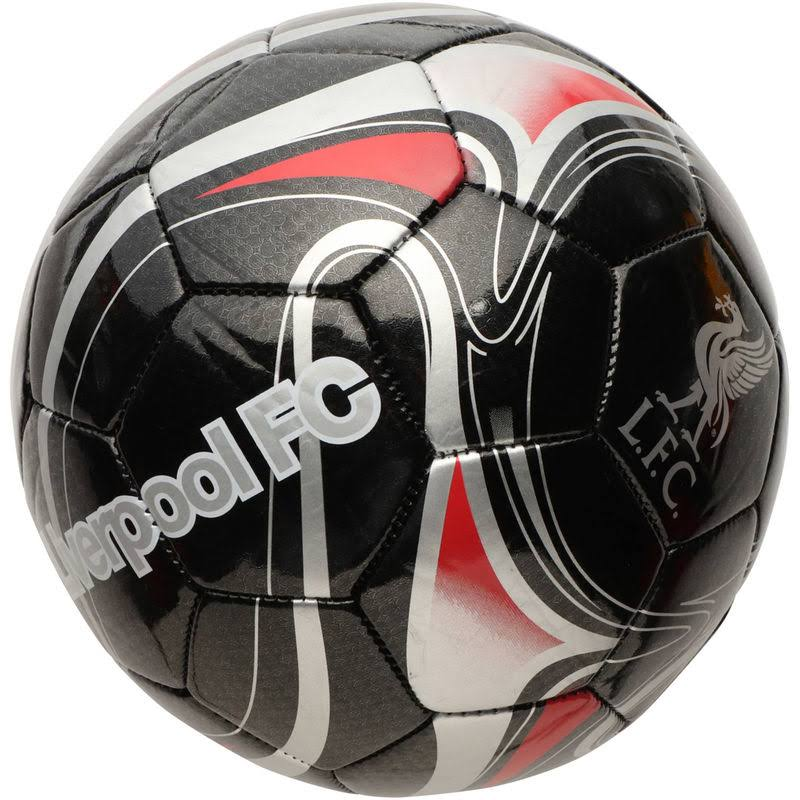 Liverpool Team Graphic Soccer Ball - Black and Red