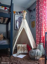 Soccer Themed Bedroom Photography by This Camping Themed Bedroom Makeover Will Make You Want To Be A