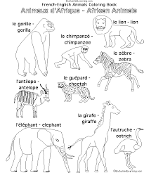 African Animals In French EnchantedLearning