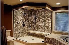 Brown Mosaic Bathroom Mirror by Master Bathroom Design Ideas Photos Black White Glass Paneled Wall