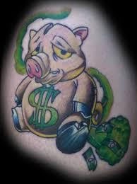 Cyber Tattoo Pig Money Tattoos