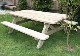 Build Outside Wooden Table by Solid Outdoor Wooden Picnic Tables