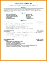 General Resume Objective Examples Entry Level Example