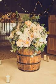 Wine Barrel Floral Arrangement