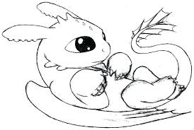 Dragon Coloring Pages Realistic Cool Baby For Free On Page