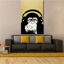 Andy Warhol Music Monkey Pictures Oil Painting Canvas