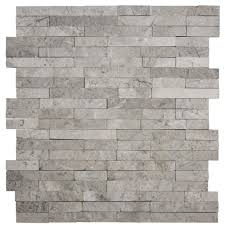 100 Modern Stone Walls Jeffrey Court Fortress Splitface 125 In X 125 In X 8 Mm Marble Mosaic Wall Tile
