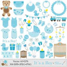 Baby boy blue onesies clipart baby shower invitation baby shower