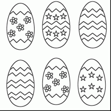 Superb Easter Egg Coloring Pages With Free Printable