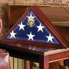 Burial Flag Box Frame American Display Case Best Casket