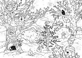 Advent Activity Village Coloring Page