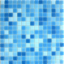 brio blend cool pool blue glass mosaic tile brio cool pool