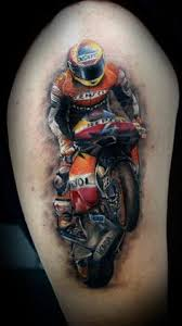 This Tattoo By Bacanu Bogdan Of A Motocross Racer Is Amazing