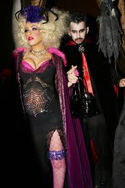 Kyle Richards Halloween Images by Christina Aguilera And Jordan Bratman As A Spider Woman And