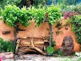 Rustic Garden Art Handmade Ideas Log Wood Benches Backyard Designs 1