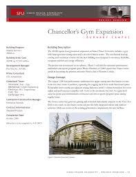 100 Cei Architecture Chancellors Gym Expansion Building Description