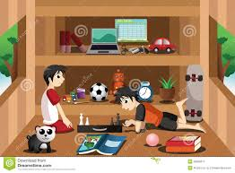 Children Playing Inside Stock Illustrations Clipart