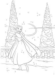 Beauty And The Beast Belle Playing Snow Coloring Page Disney Princesses Colouring Pictures Princess Pages Games