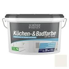 schöner wohnen farbe bad küchenfarbe weiß 5 l matt