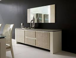 Contemporary Modern Dining Room Buffet With Mirror On Buffets