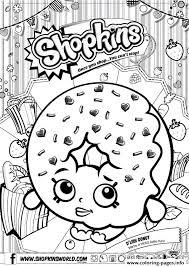 Print Shopkins D Lish Donut Coloring Pages
