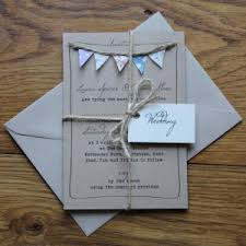 Handmade Bunting And Printed Wedding Stationery Must Be Fete