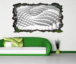 3d wandtattoo 3d effekt mosaik block welle abstrakt kunst muster selbstklebend wandbild wandsticker wohnzimmer wand aufkleber 11o055 wandtattoos und
