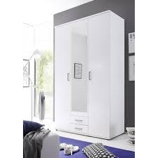 58 795 17 karl weiß kleiderschrank drehtürenschrank stauraumschrank spiegel 120 cm