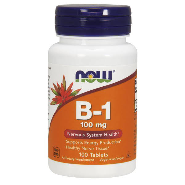 Now Foods Vitamin B-1 - 100 Tablets, 100mg