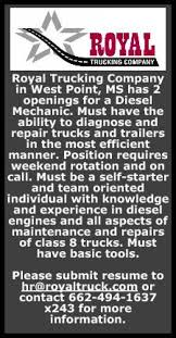Diesel Mechanic, Royal Trucking Royal Experess Inc Royalexpressinc Twitter Heavy Transport Companies Dubai Top For Hauling Colonial Freight Trucks On American Inrstates Rdx Royal Drivers Xpress Inc Opening Hours 2721 Ctennial St Cargo Beefs Up Cold Chain Capability In Ancipation Of Oilfield Rentals Caroline Alberta Get Quotes Dearborn Steel Express Not Just Another Trucking Company Tfi Intertional Formerly Transforce Princess Regional Trucking Company Essay College Paper Academic Switching To Offpeak Delivery Times Reduces City Cgestion Colorado Dot Purchases Worlds First Automated Selfdriving