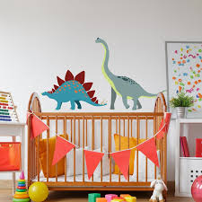deco chambre dinosaure sticker enfant brachiosaure