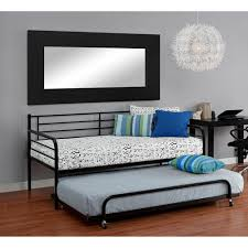 Walmart Trundle Bed Frame by Metal Daybed With Trundle Black Walmart Com