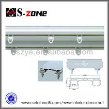 Ceiling Mount Curtain Track by Sdc03 Plastic Double Ceiling Mounted Curtain Rail Pvc Curtain