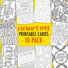 These Printable Fathers Day Cards Are Fun To Color In And A Great Way Personalize