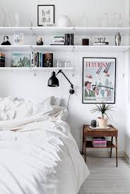 To Add Storage Space A Small Bedroom Install Shelves Above The Bed Display DecorBedroom