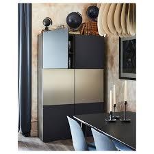 bestå storage combination with doors black brown riksviken notviken blue 47 1 4x16 1 2x75 5 8